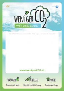 """PDF-Download """"Plakat Weniger CO2 - wir sind dabei!"""""""
