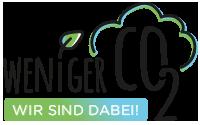 Logo Weniger CO2