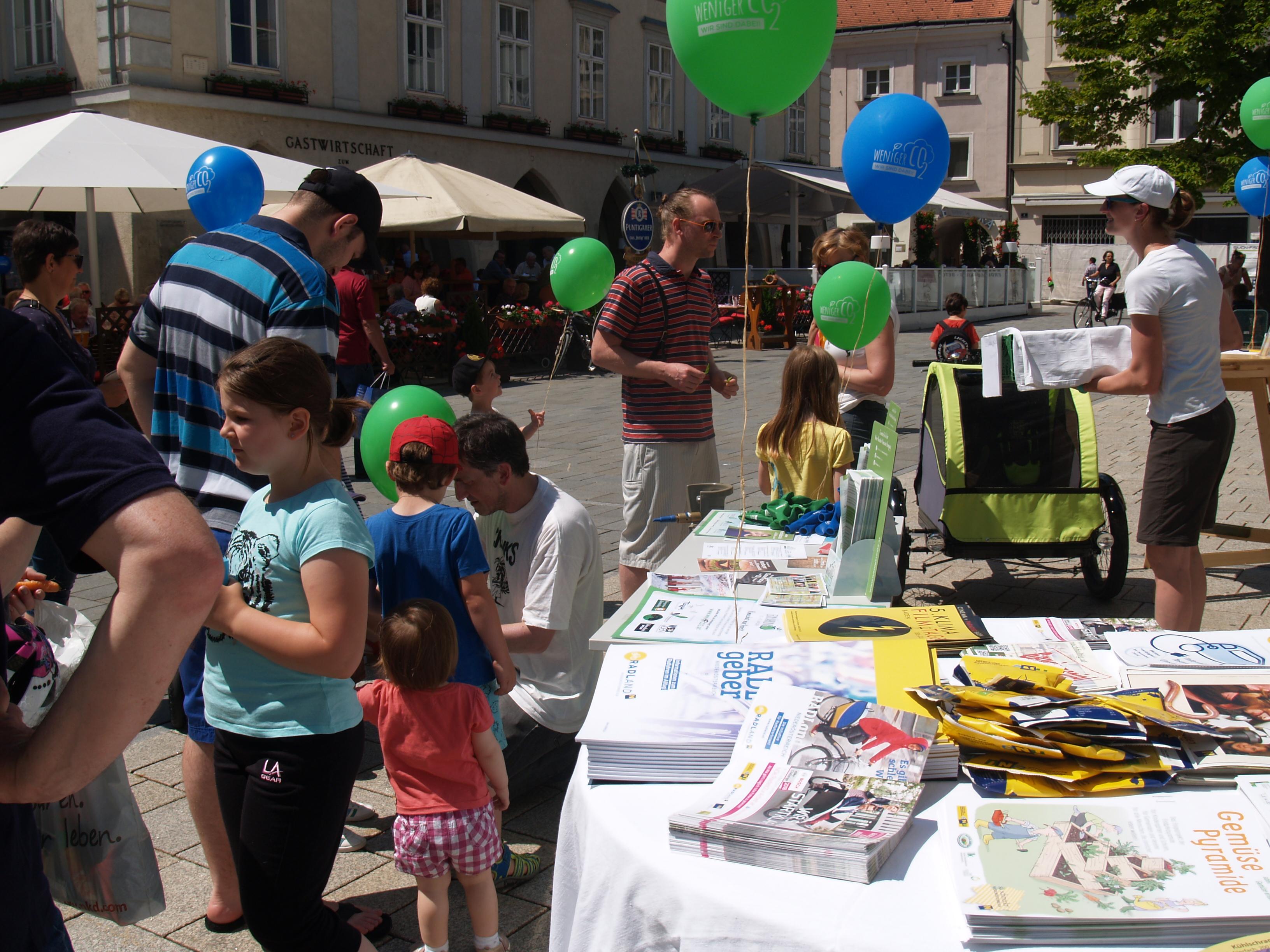 Klimaschutzfest am Hauptplatz